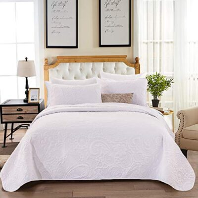 wongs bedding white quilted bedspread king reversible coverlet embossed lightweight decorative coverlet modern style microfiber quilt set (3pieces, 240x260cm) WONGS BEDDING White Quilted Bedspread King Reversible Coverlet Embossed Lightweight Decorative Coverlet Modern Style Microfiber Quilt Set (3Pieces, 240X260cm) WONGS BEDDING White Quilted Bedspread King Reversible Coverlet Embossed Lightweight Decorative Coverlet Modern Style Microfiber Quilt Set 3Pieces 240X260cm 0 400x400