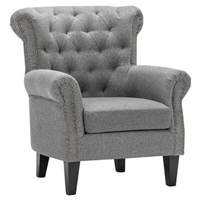 warmiehomy occasional linen fabric wing back armchair with solid wood legs for living room sitting room contemporary (grey) WarmieHomy Occasional Linen Fabric Wing Back Armchair with Solid Wood Legs for Living Room Sitting Room Contemporary (Grey) WarmieHomy Occasional Linen Fabric Wing Back Armchair with Solid Wood Legs for Living Room Sitting Room Contemporary Grey 0 400x400