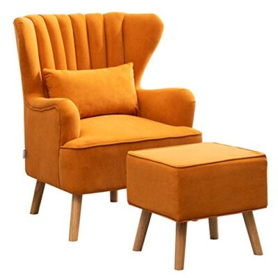 warmiehomy modern velvet armchair wing back occasional chair sofa lounge tub chair fireside chair with footstool living room bedroom office furniture (orange) Warmiehomy Modern Velvet Armchair Wing Back Occasional Chair Sofa Lounge Tub Chair Fireside Chair with Footstool Living Room Bedroom Office Furniture (Orange) Warmiehomy Modern Velvet Armchair Wing Back Occasional Chair Sofa Lounge Tub Chair Fireside Chair with Footstool Living Room Bedroom Office Furniture Orange 0 400x400