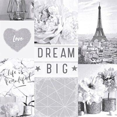 Arthouse Life is Beautiful Mono Wallpaper 692100 – Glitter Paris City Love Heart Arthouse Life is Beautiful Mono Wallpaper 692100 Glitter Paris City Love Heart 0 400x400